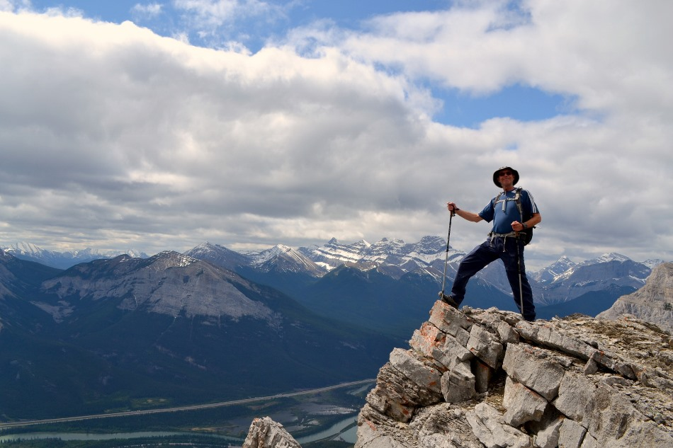 Bill in front of Bow Valley and Lougheed