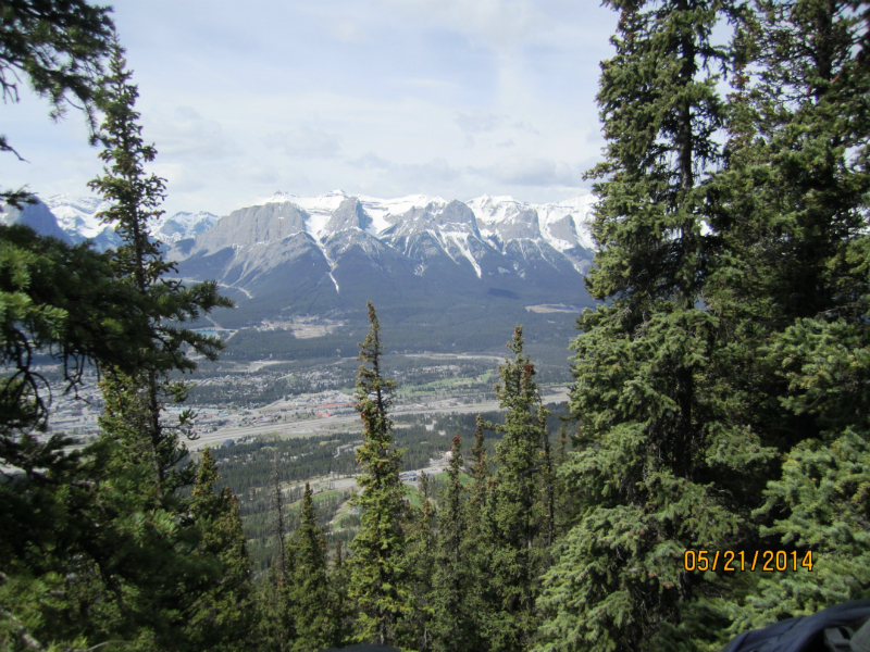 View from Mt Lady MacDonald