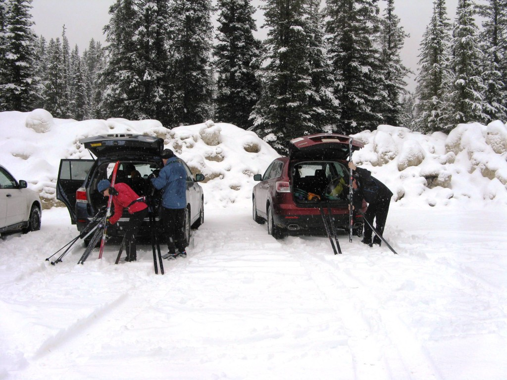 Banff Springs cross - country skiing trailhead