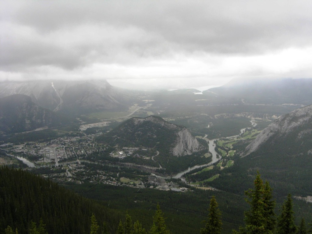 View of Tunnel Mt and Banff