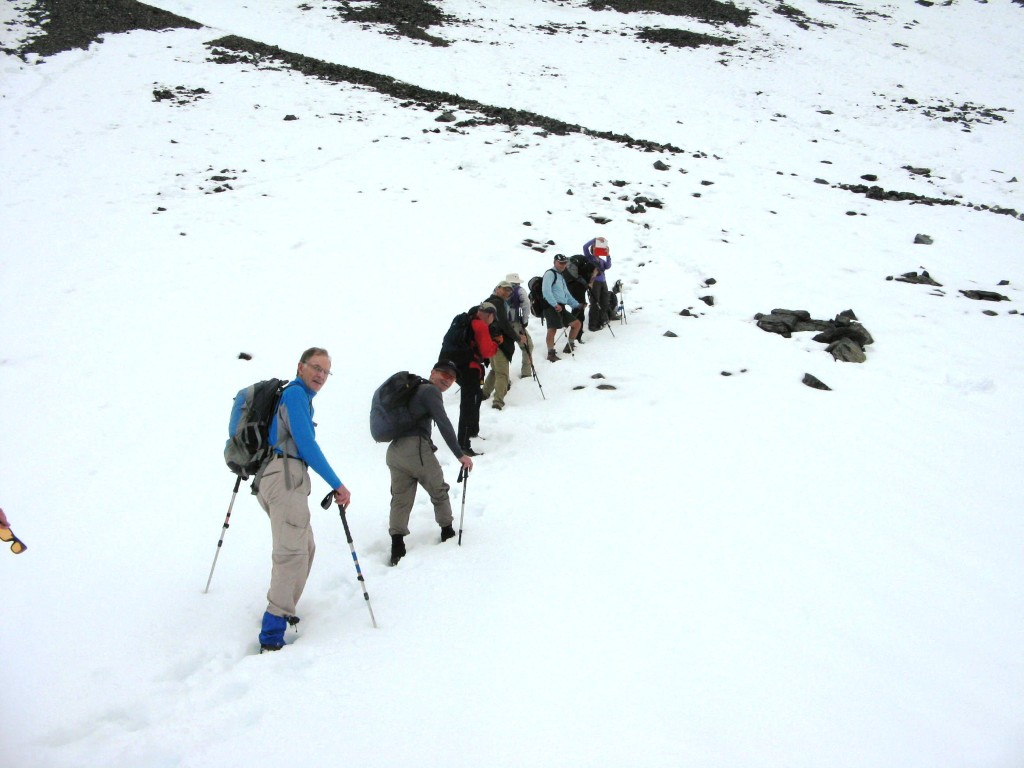Eleven hikes with one thing on there minds,where is the summit