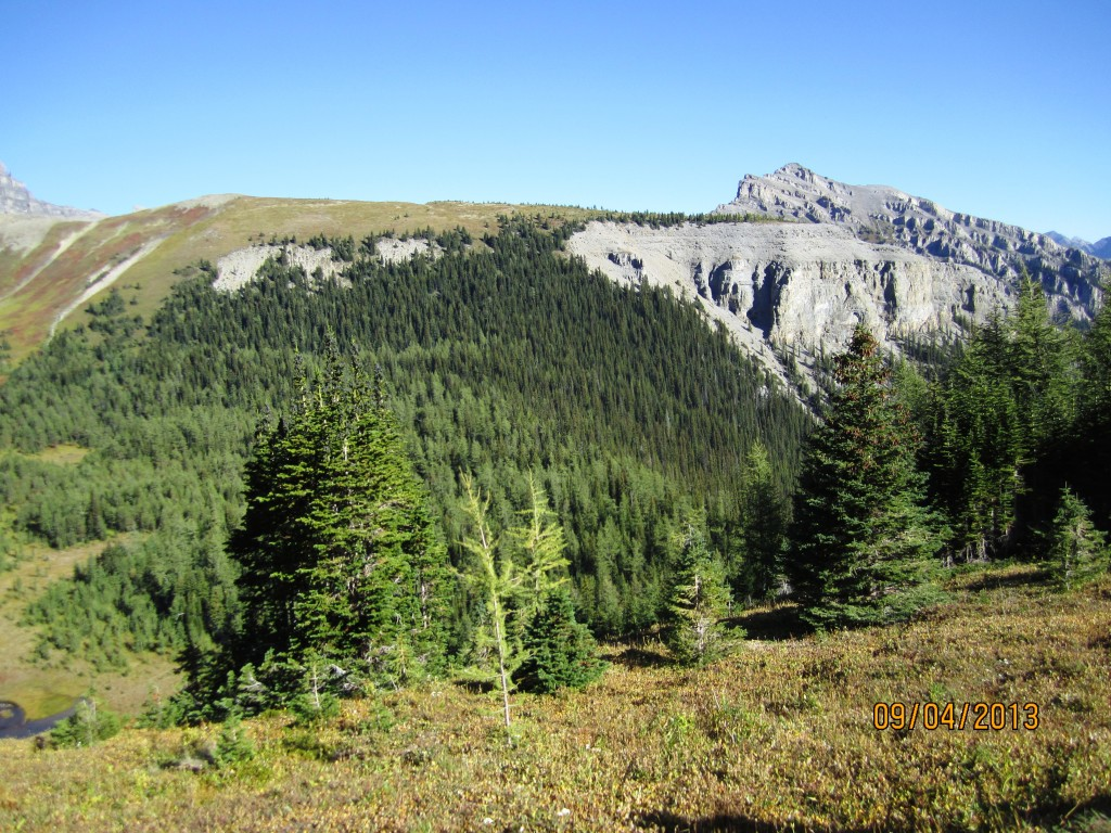 The ridge to ascend from the bottom of the basin
