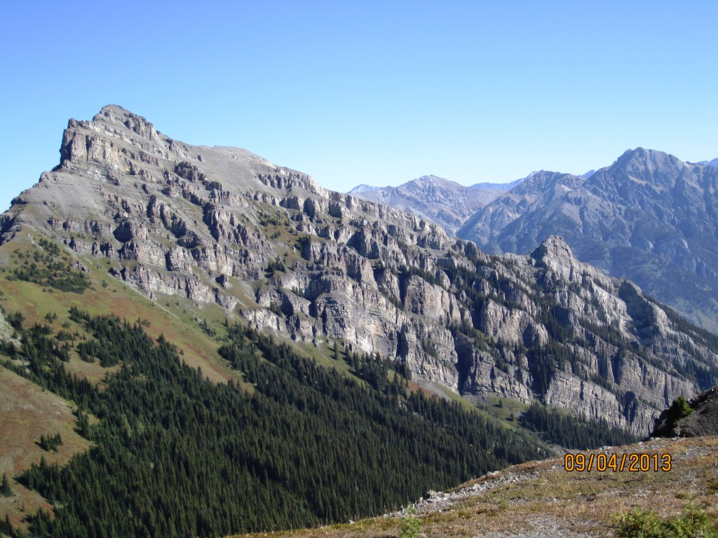 Part of the Massive Range as viewed from the ridge.