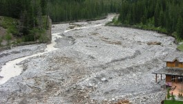 Canmore Flood of  Cougar Creek 2013