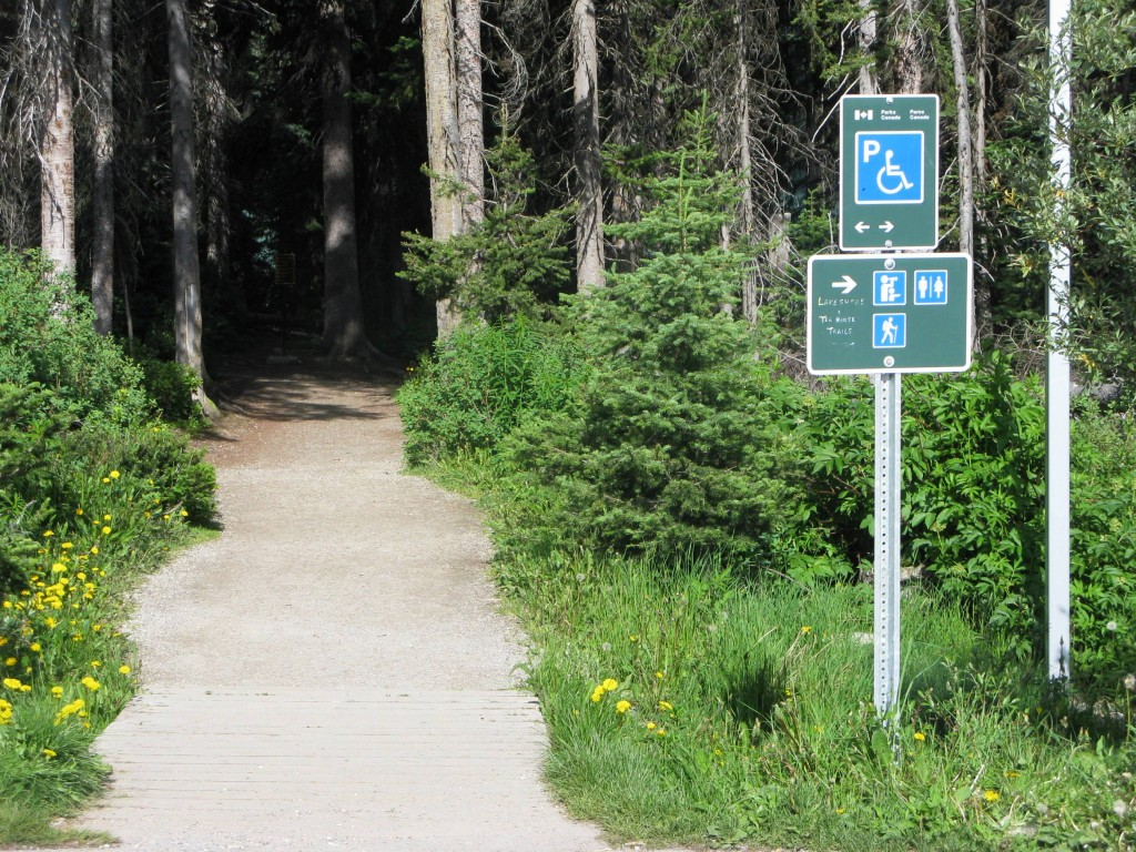 Entrance to trail from parking lot