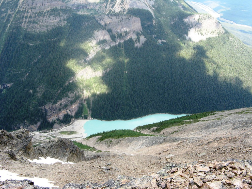 Lake Louise and the trails up to Lake Agnes
