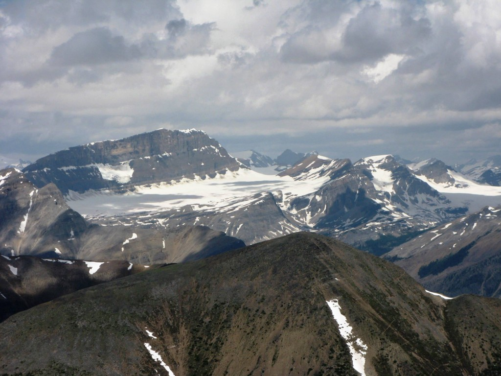 Waputik Glacier to the north