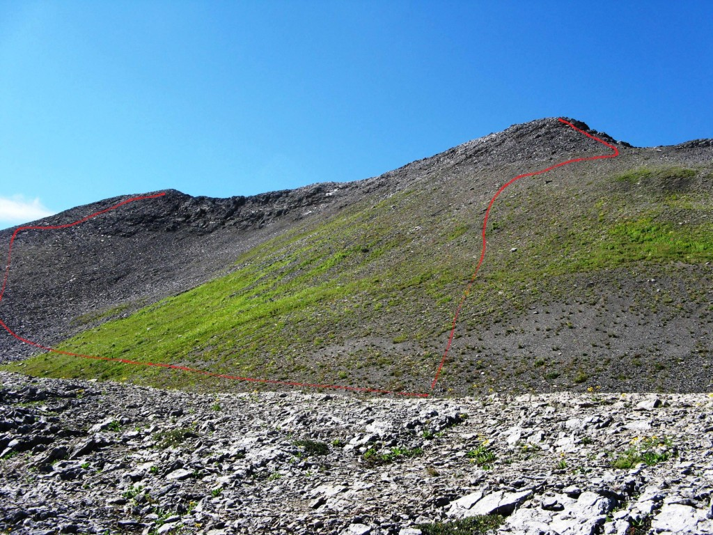 Direct route to first peak