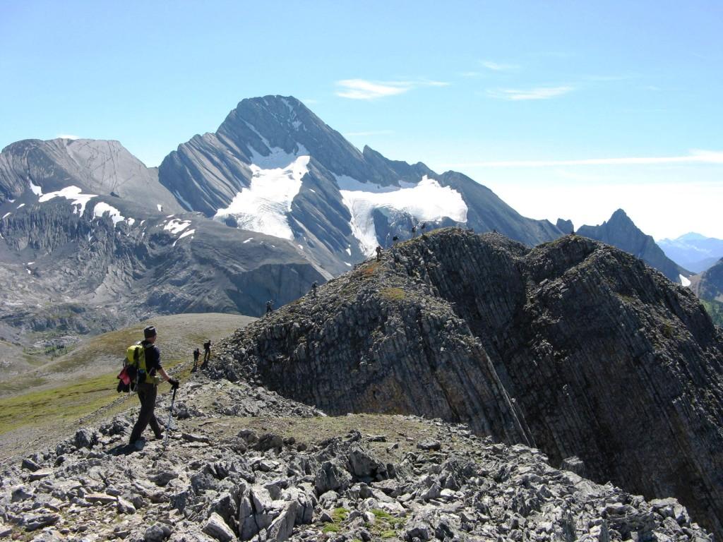 Mt Robertson with Glacier left & French  Glacier right