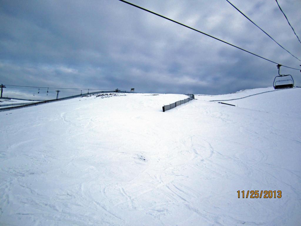 Above South Pocket still needs some snow