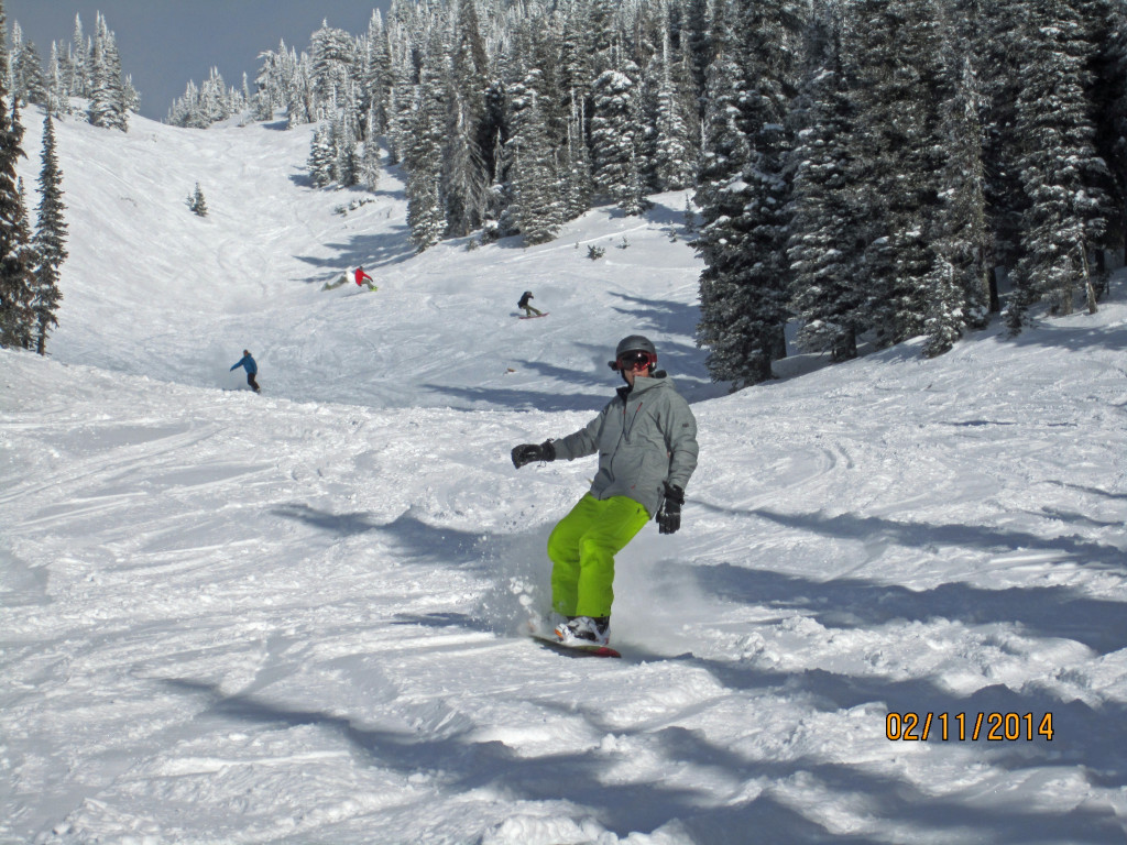 Pete shredding some Pow  at Big White