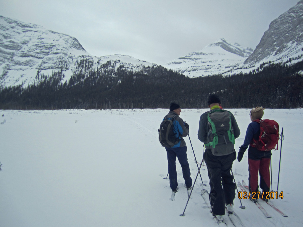 Don, Kerry & Mary enter the Roberson Glacier Valley