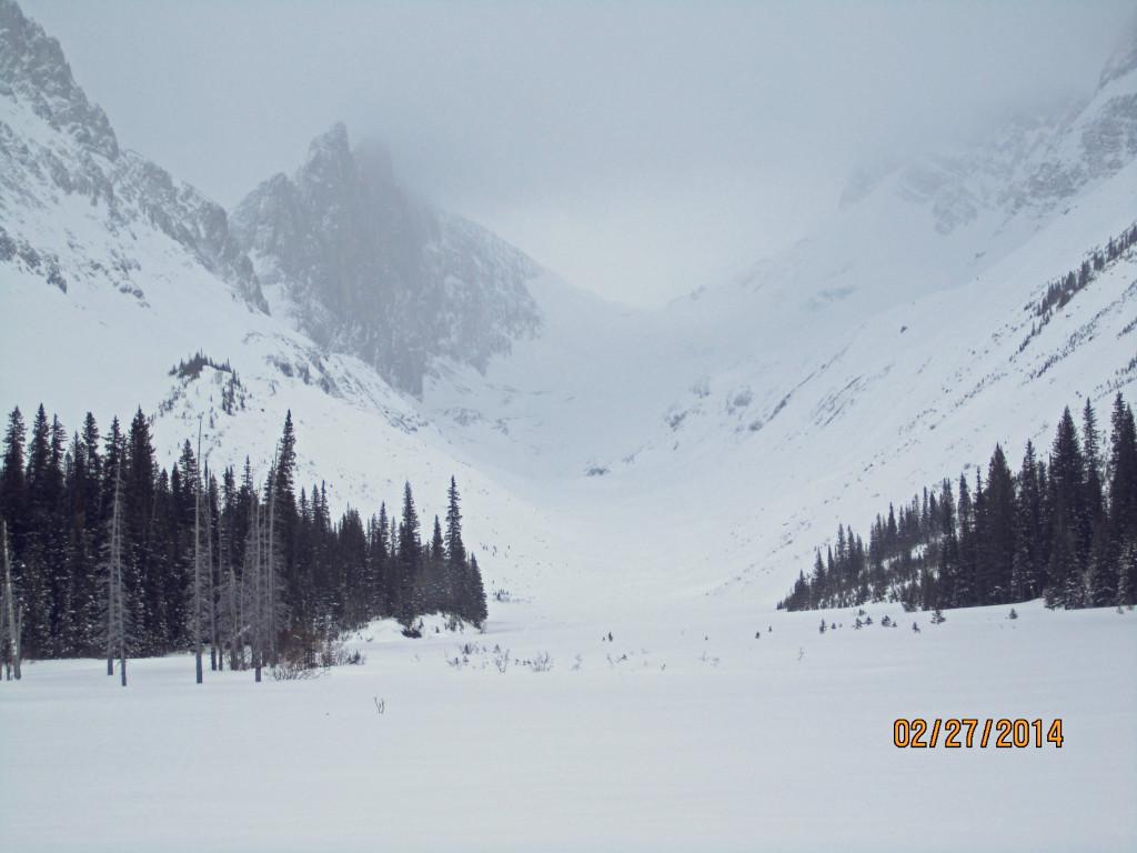 Robertson Glacier ahead