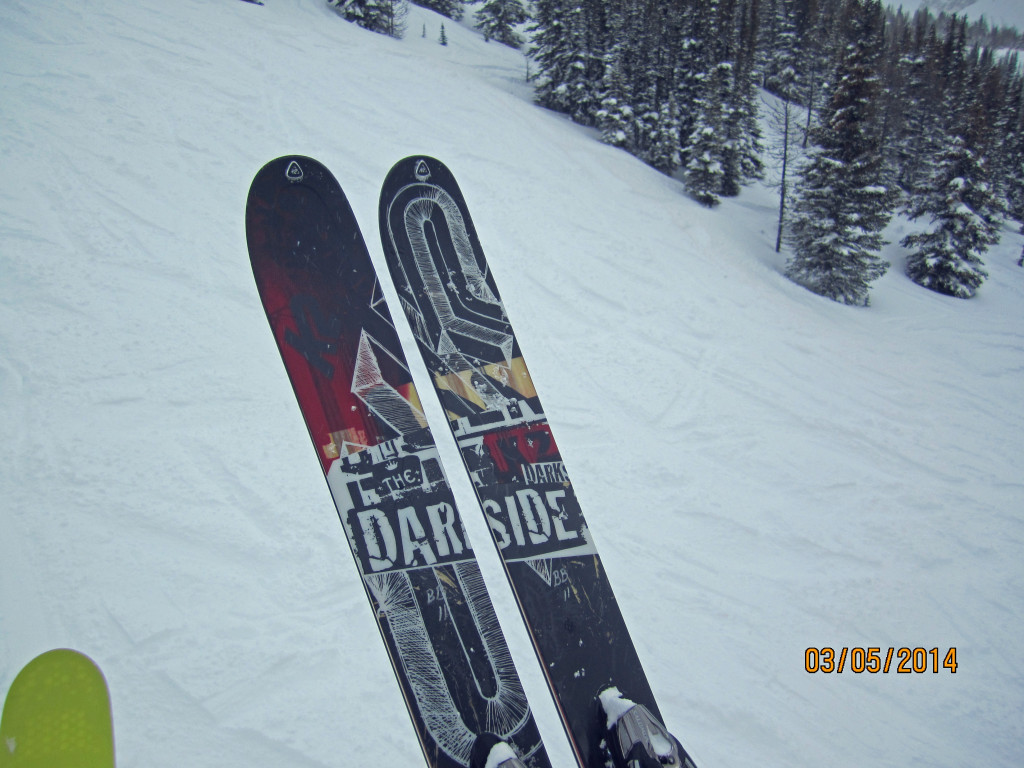 Watchout for the Darkside Powder skis