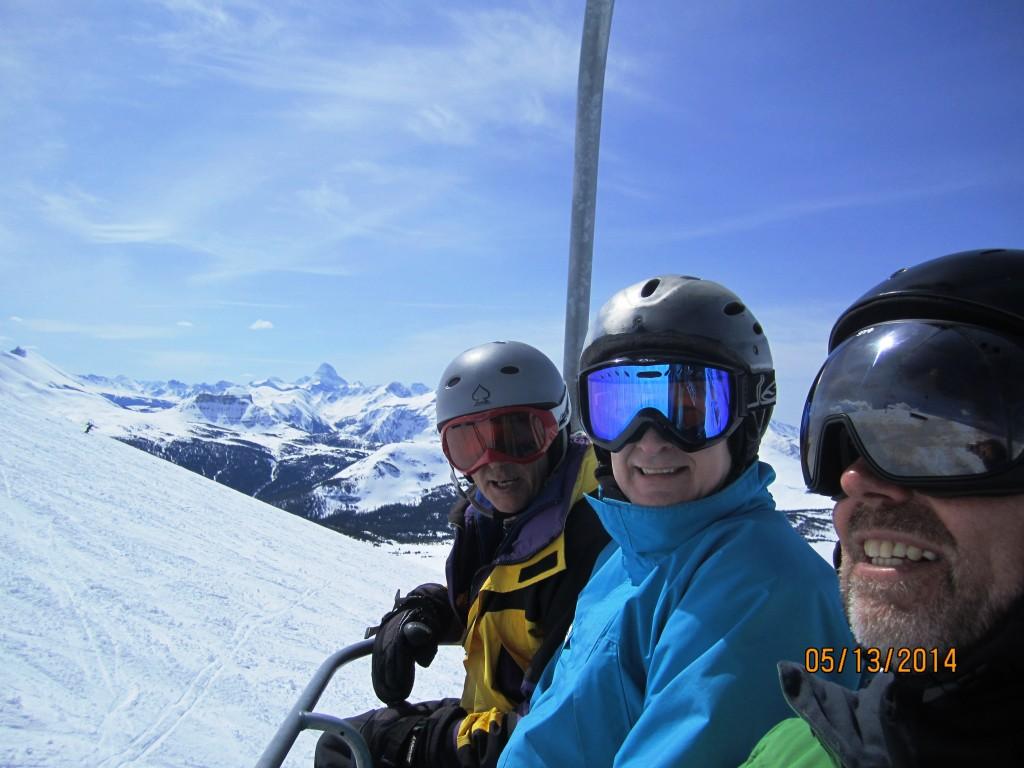 The ski gang on the lift