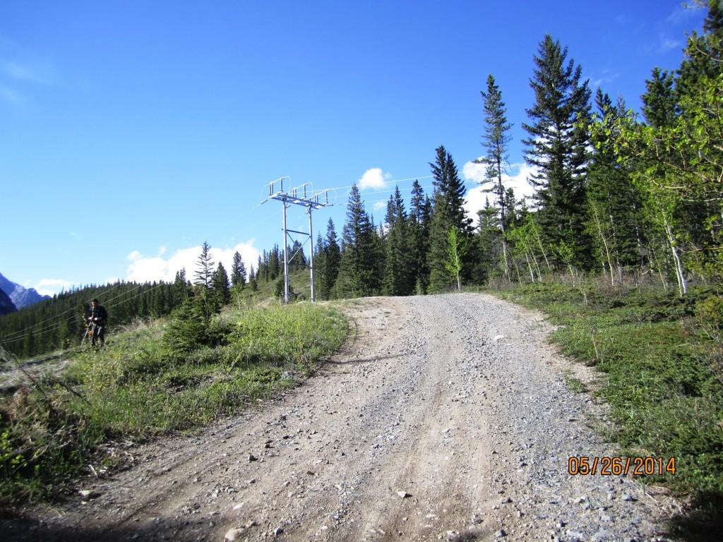 Start of trail for Exshaw Creek