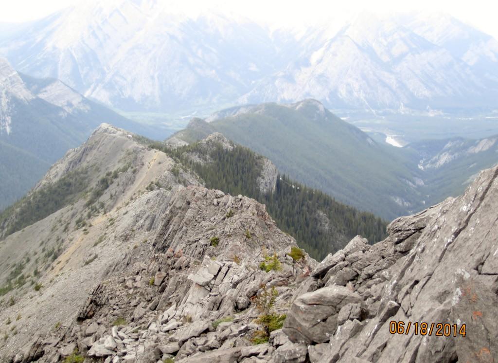 On summit Wasootch Rdg looking back down ridge