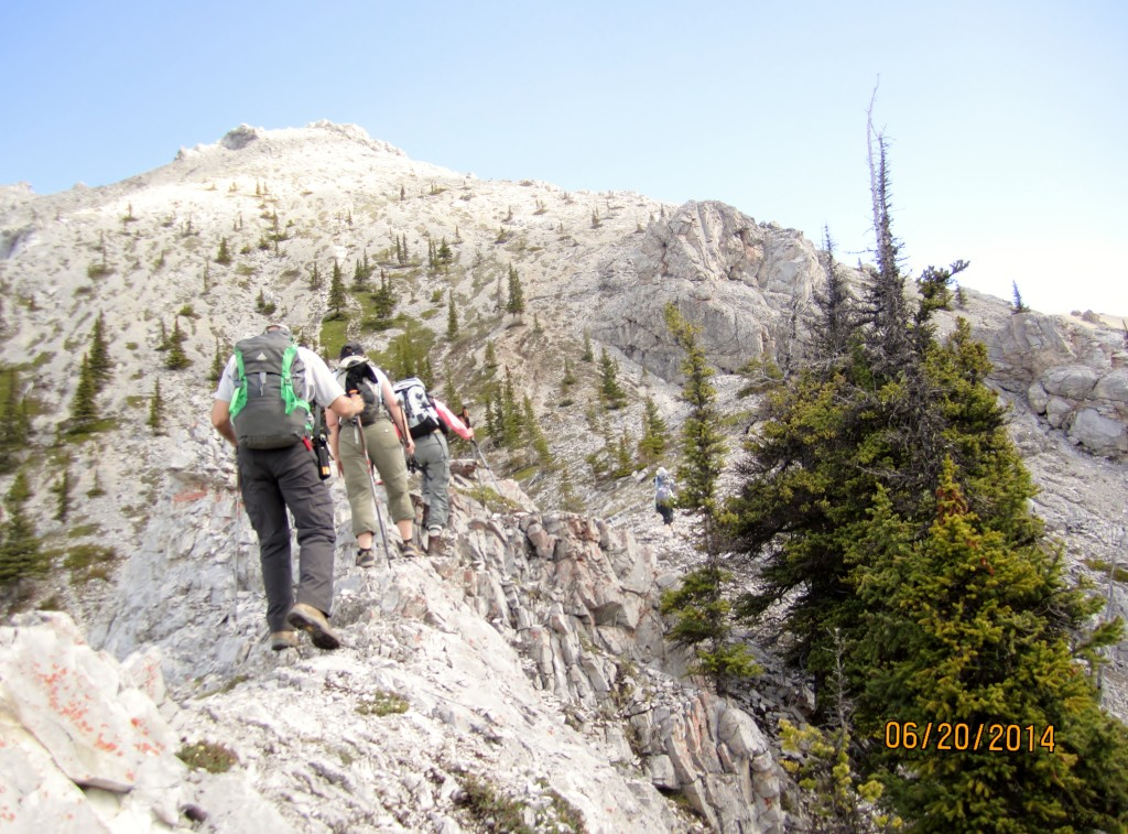 At the end of the rocky ridge