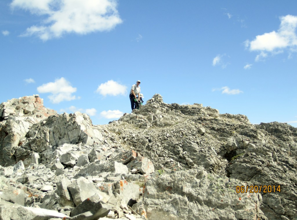 At the cairn on the summit