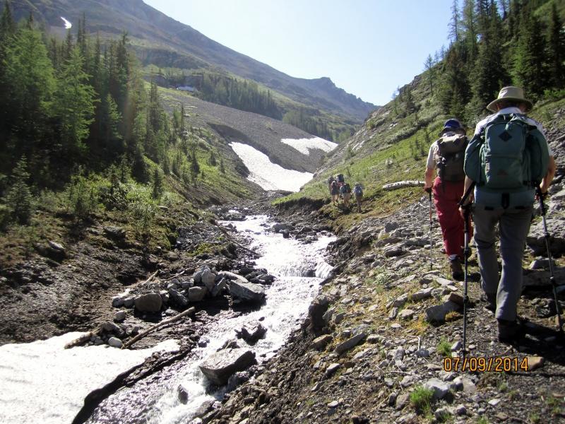 Hiking up the Creek