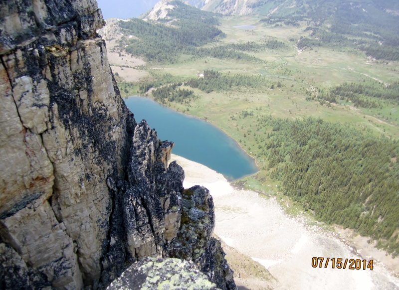 Lake from higher up on Citadel Mt