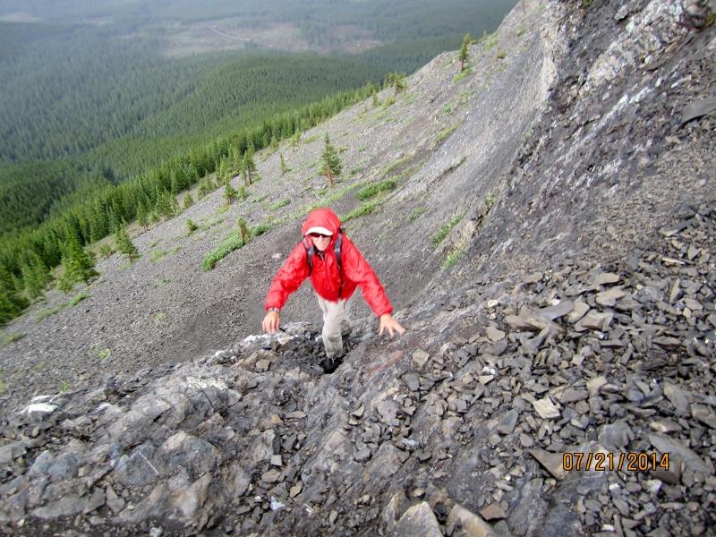 First scramble up Nihahi Ridge