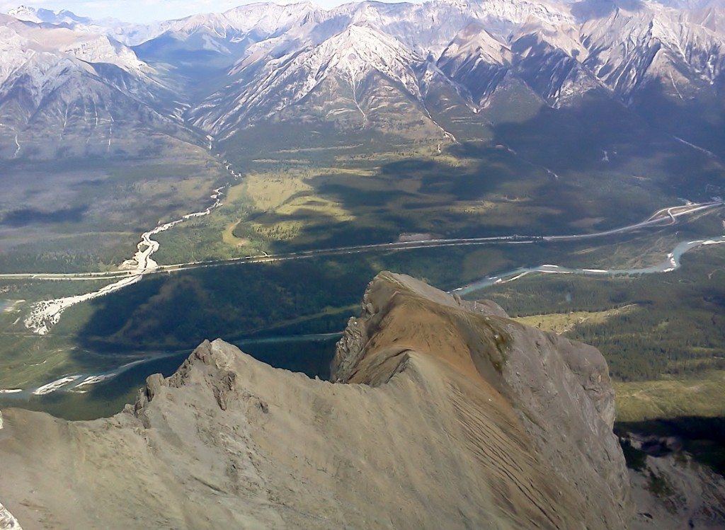 Carrot Creek and one of the buttress you see from Hwy #1