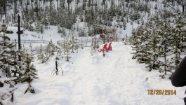 Snowshoeing at Marble Canyon