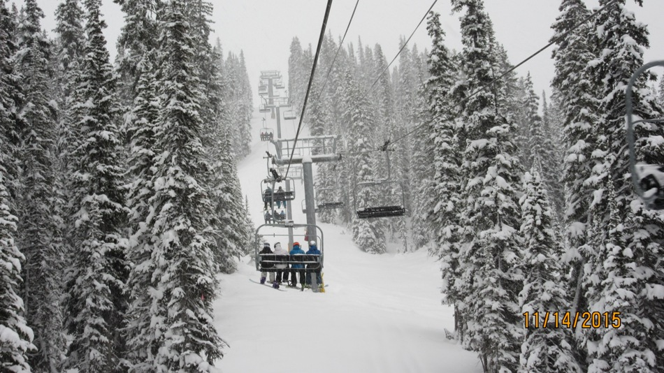 Lot sof snow on Opening Day