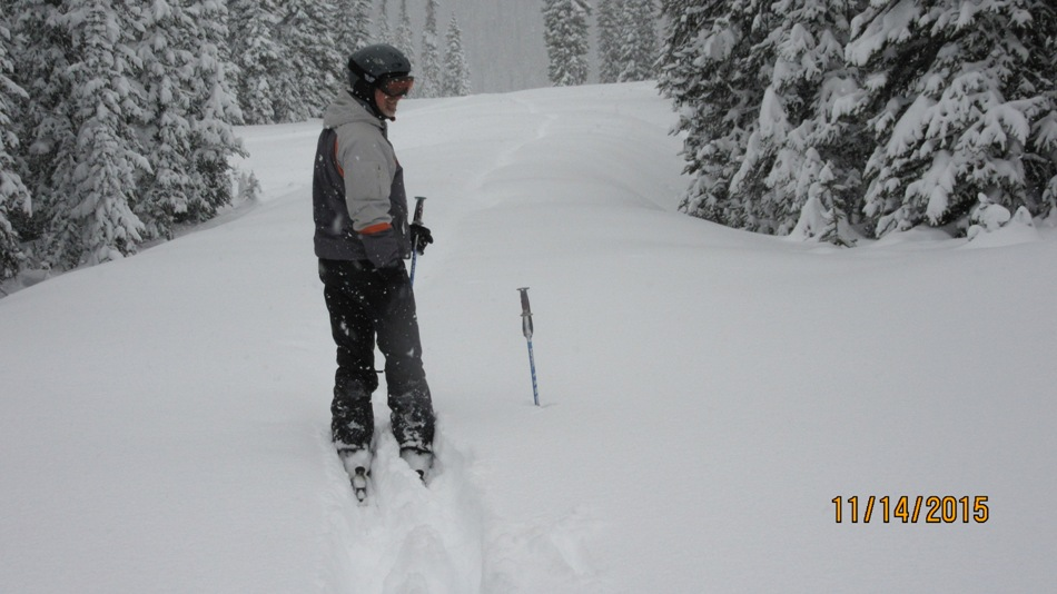 Pushing snow to get under the lift