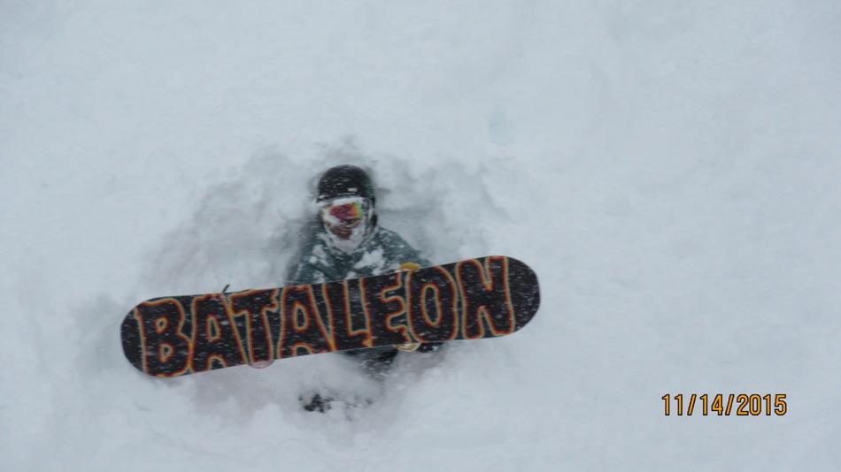 Snowboarder buried