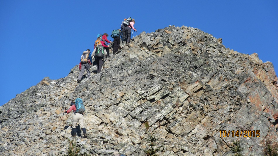 The group close to the top