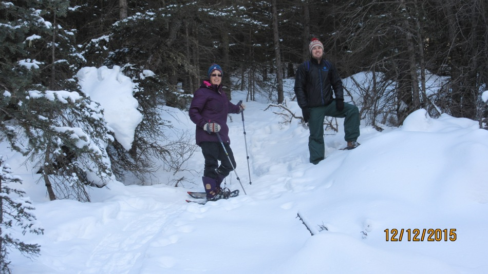 At the beginning of the trail at the Goat Creek parking