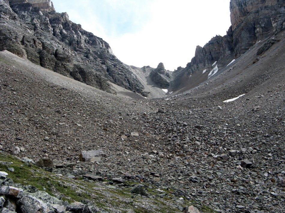Sentinel Pass. Note people in distant center