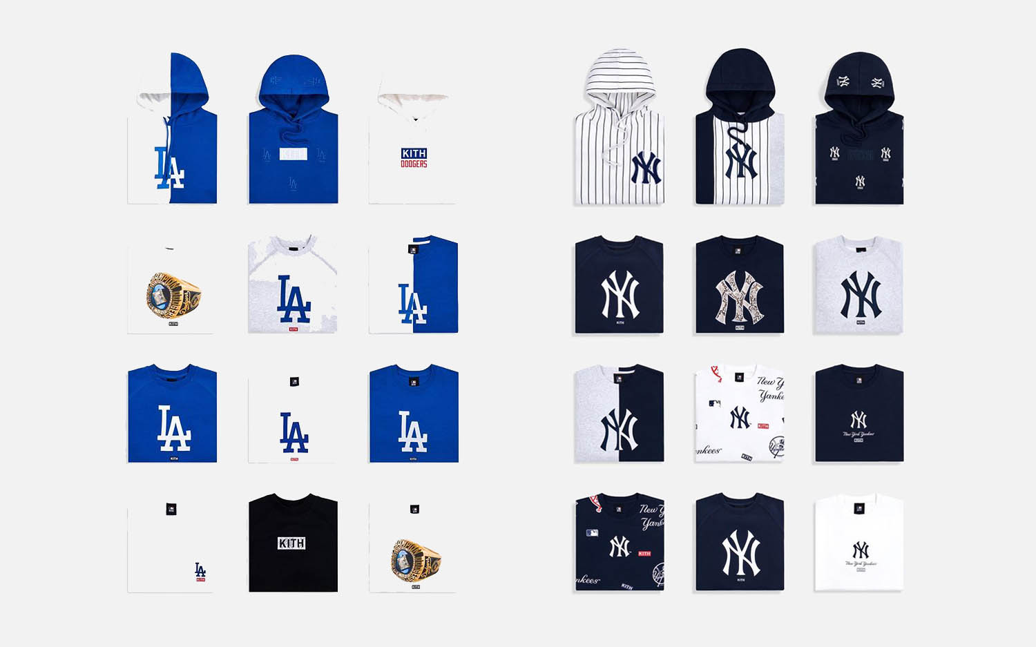 Kith Release MLB Dodgers Yankees Collection