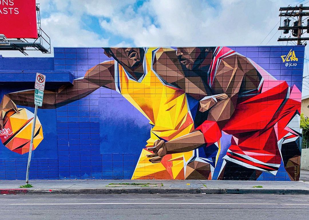 Kobe Bryant Mural 1 Year Since with KRIMY