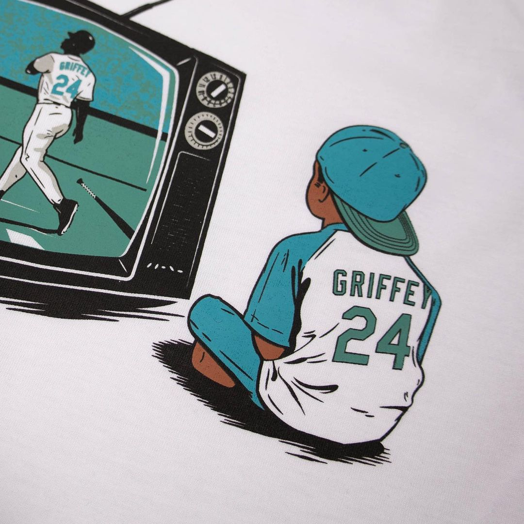 Child watching 630-home-run-hitter on television