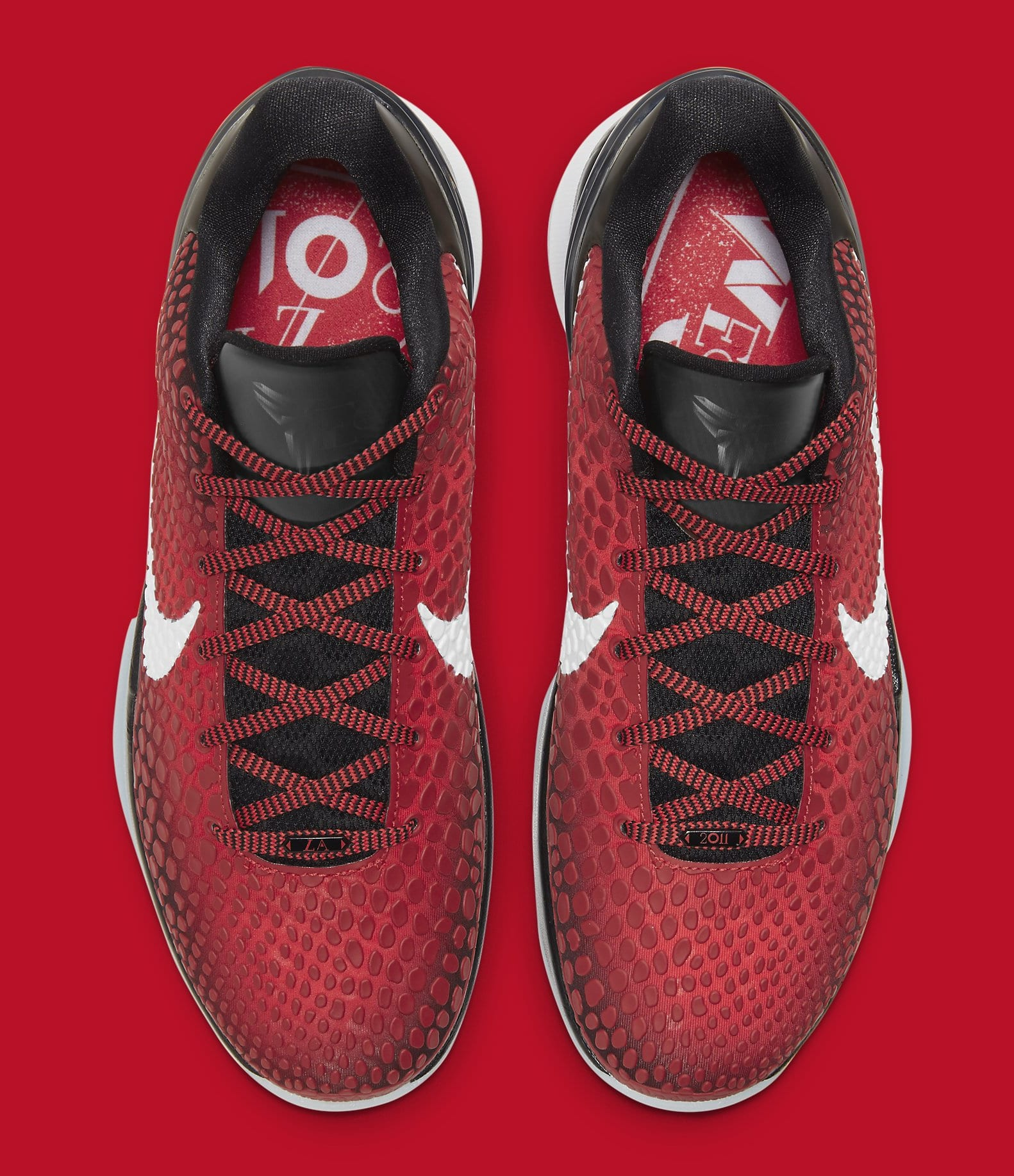 Red sneakers play an honor to the 2011 NBA All-Star weekend with Kobe Bryant