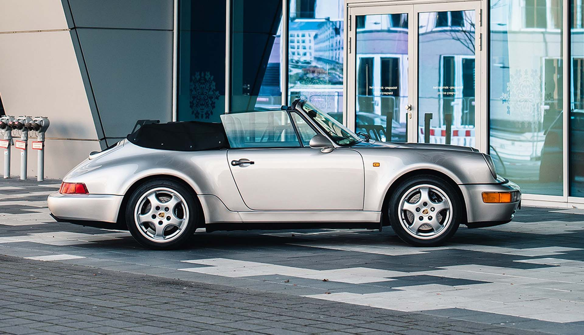 Convertible car with turbo speed