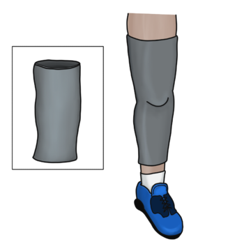 below knee prosthetic leg that incorporates a sleeve to aid in suction suspension.