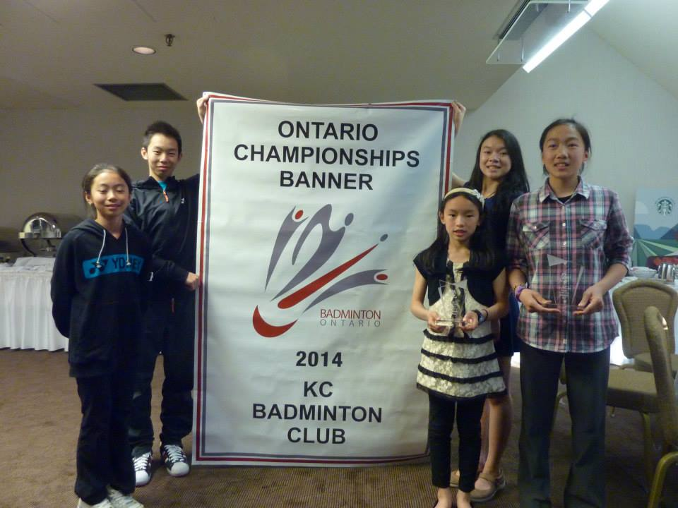 Head Coach Kevin Cao with Banner and all players of the year