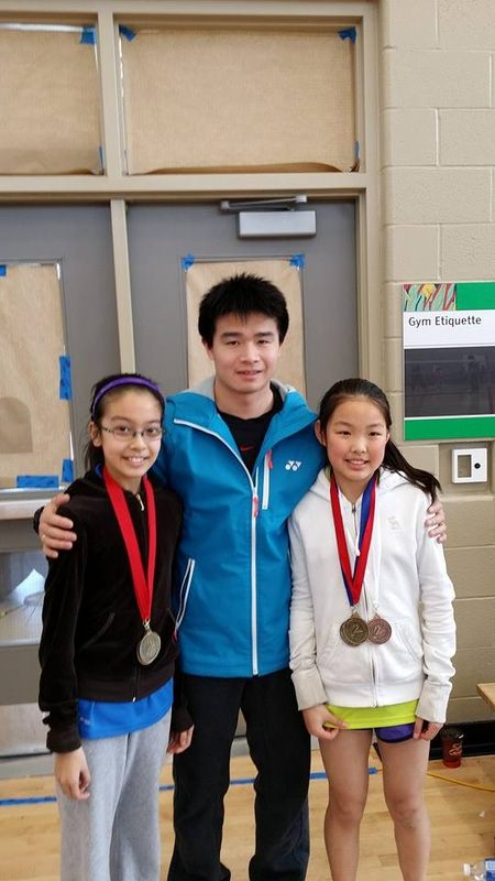 Coach Kevin ( Middle) with Tiffany ( Left) and Jessica ( Right)