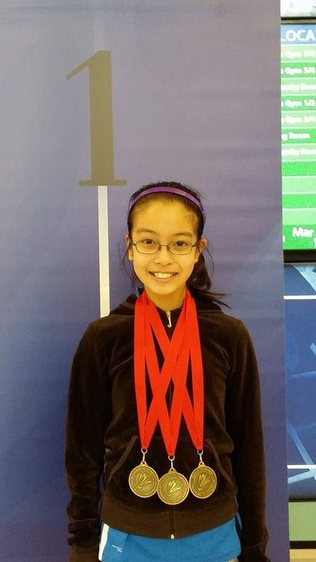 Tiffany Too with her Triple Corwn Medals!