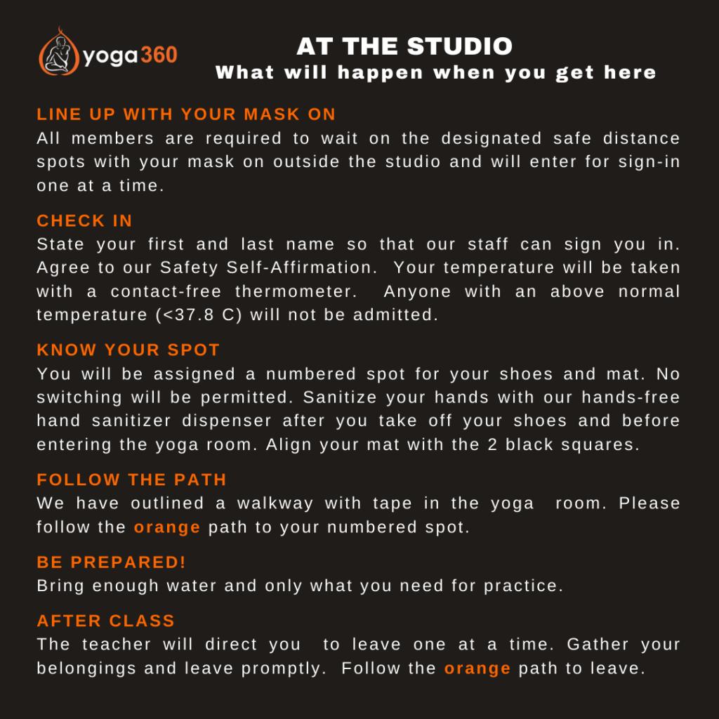 at the studio Yoga360