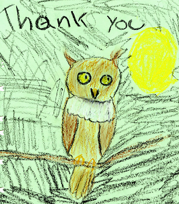 Thank You Owl by Julia