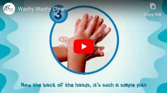 Fun way to remember the steps to handwashing!