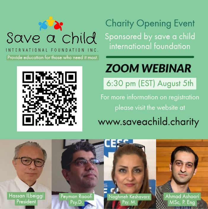 Charity opening event – Zoom Webinar