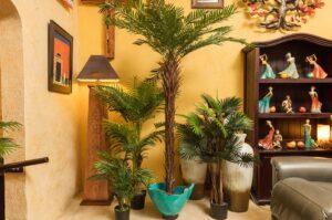 Large faux plants for interior decoration