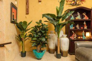 Large faux plants for home decoration