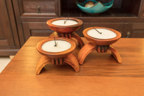 Decorative candle holders in Cabo San Lucas